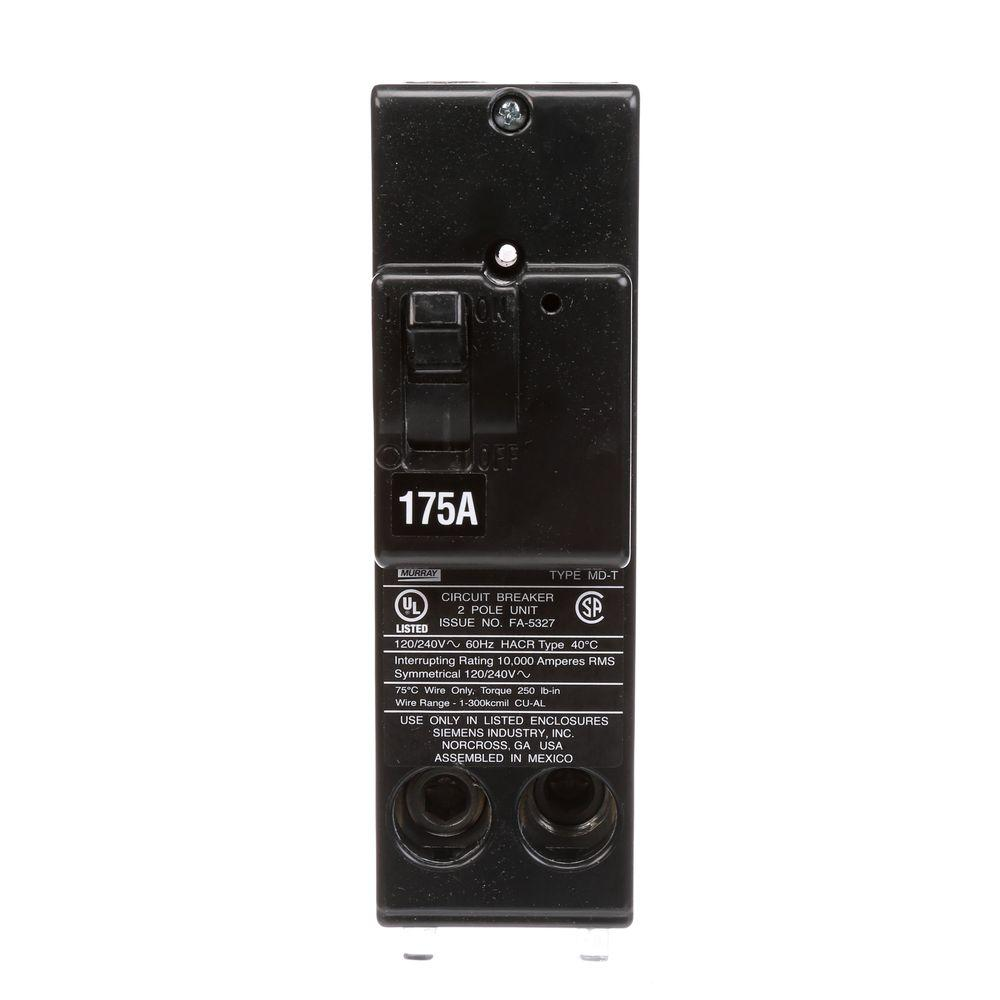 175 Amp Double-Pole 10 kA Type MD-T Circuit Breaker