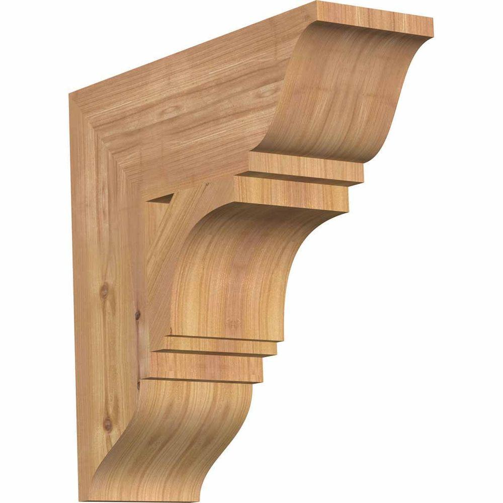 Ekena Millwork 5.5 in. x 18 in. x 18 in. Western Red Cedar Imperial Traditional Smooth Bracket