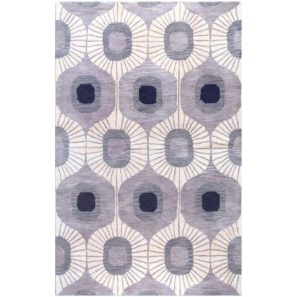 BASHIAN Chelsea Collection Curtain Grey 7 ft. 6 in. x 9 ft. 6 in. Area Rug