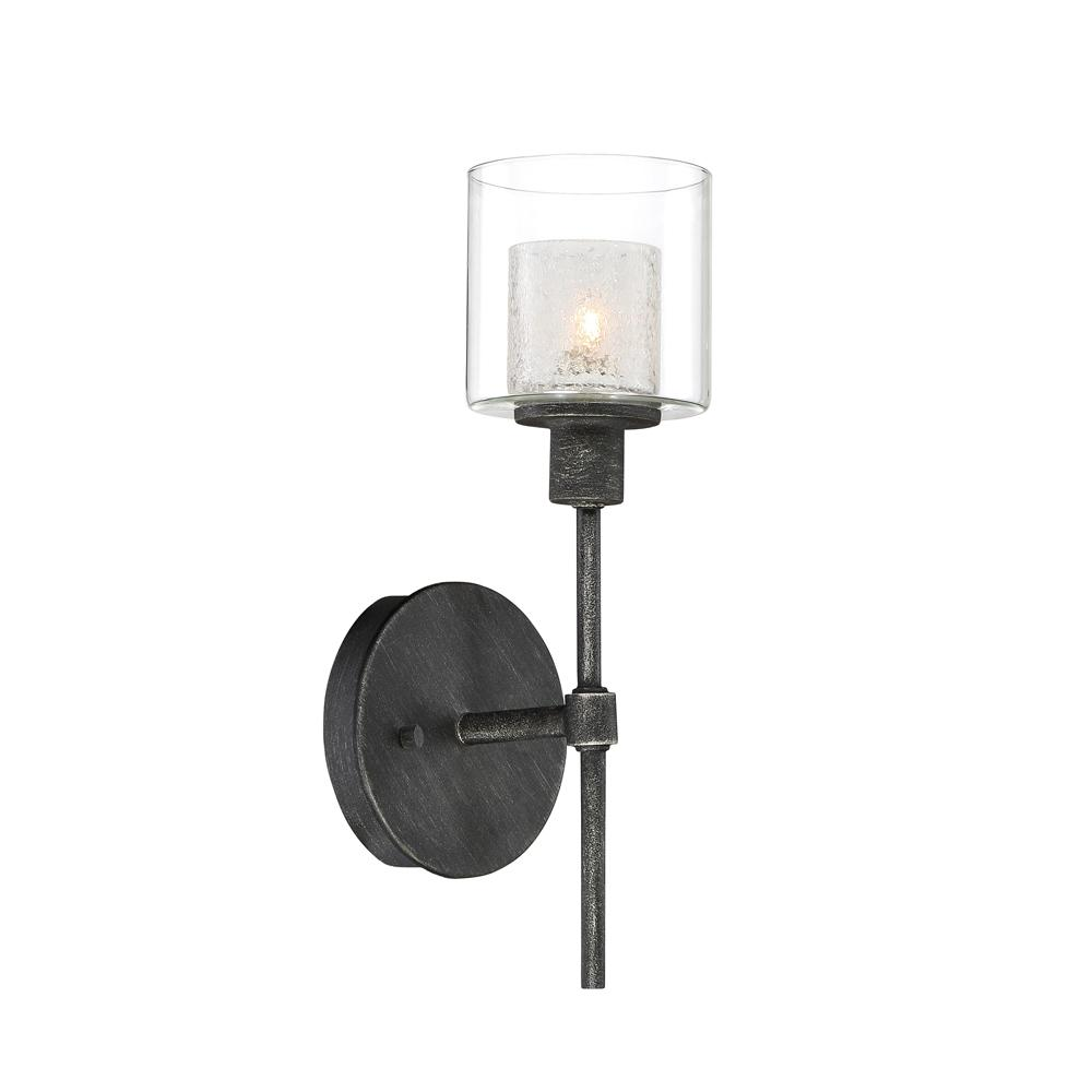 Cazadero 1-Light Weathered Pewter Wall Sconce