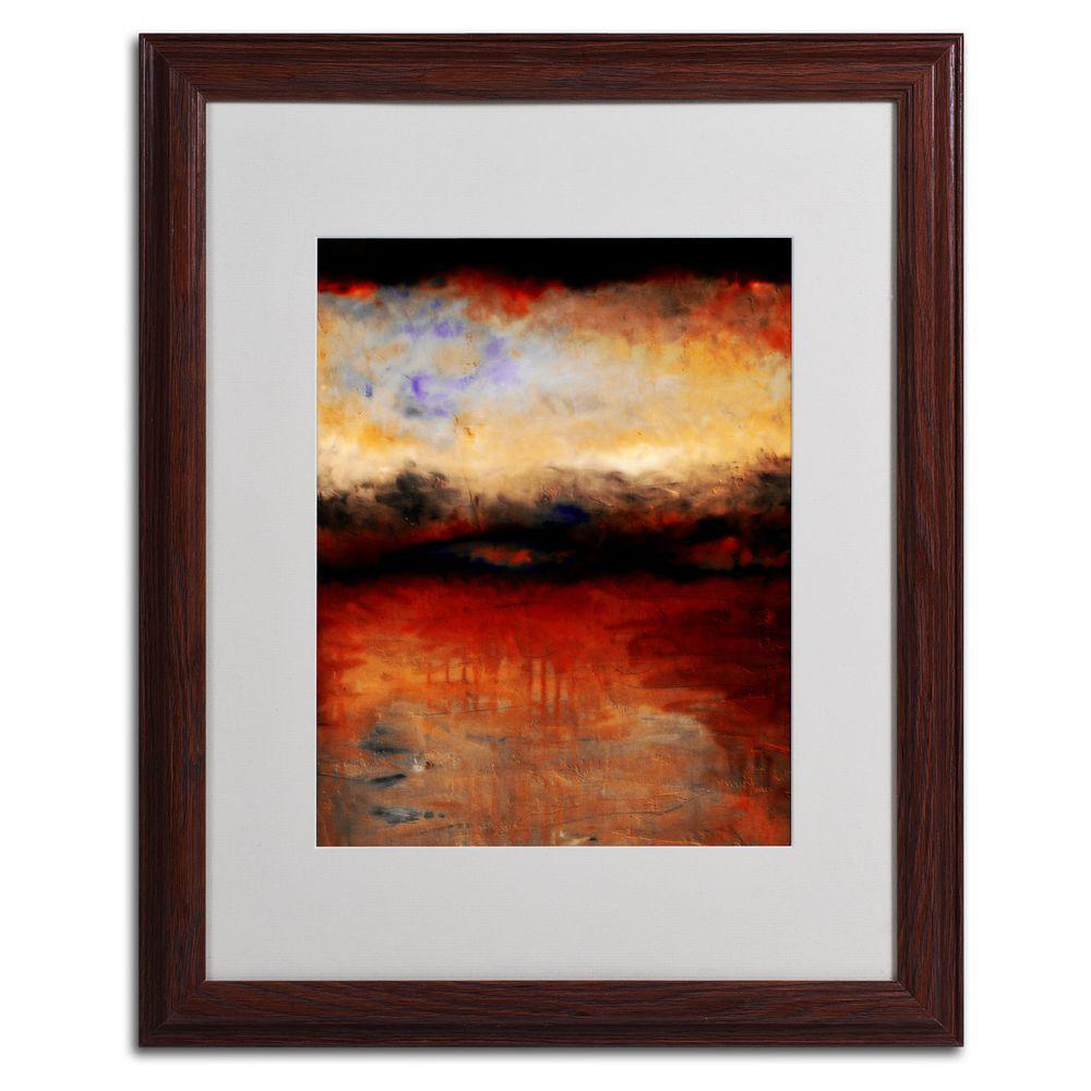 16 in. x 20 in. Red Skies at Night Matted Framed