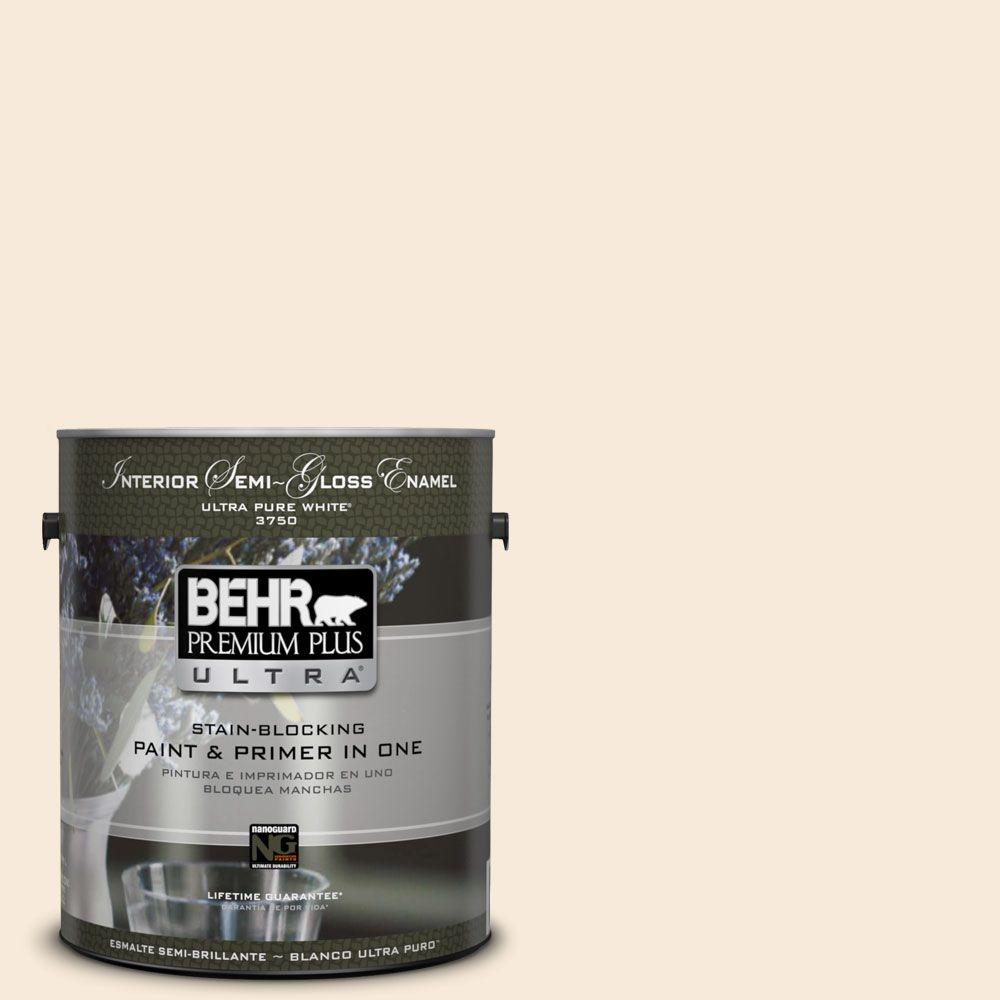 Home Decorators Collection 1-gal. #HDC-AC-11 Clean Canvas Semi-Gloss Enamel Interior Paint
