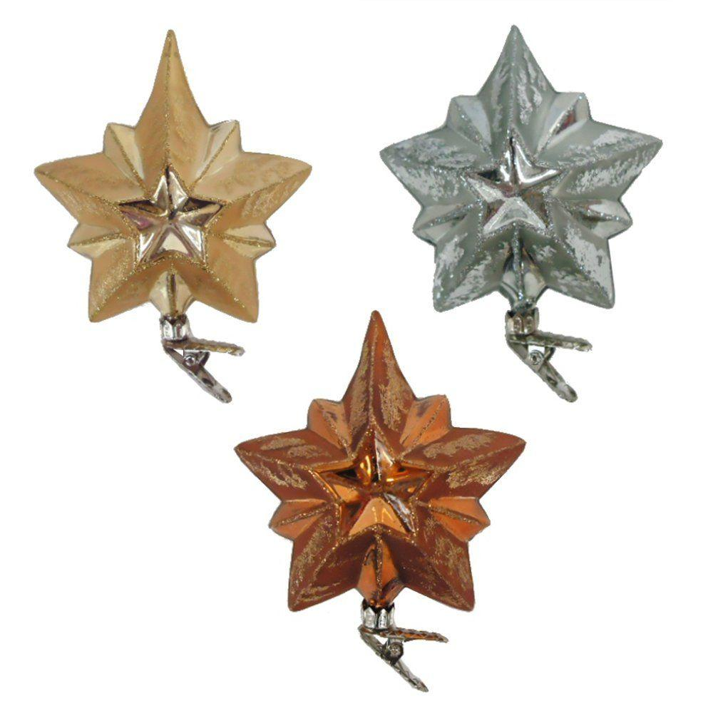 Martha Stewart Living Holiday Shimmer Stars Glass Ornament (12-Count)-HEGL32 -