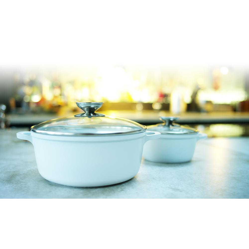 Vario Click Pearl 10 in. /4.25 Qt. Induction Round Dutch Oven