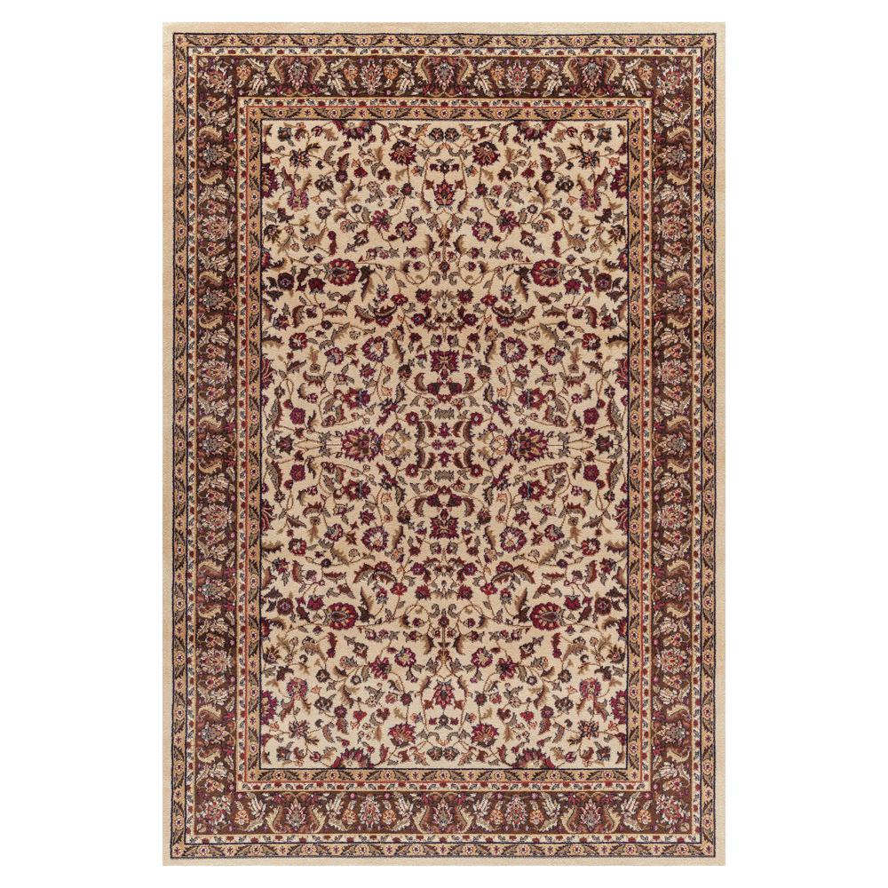 Concord Global Trading Jewel Kashan Ivory 3 ft. 11 in. x 5 ft. 7 in. Area Rug