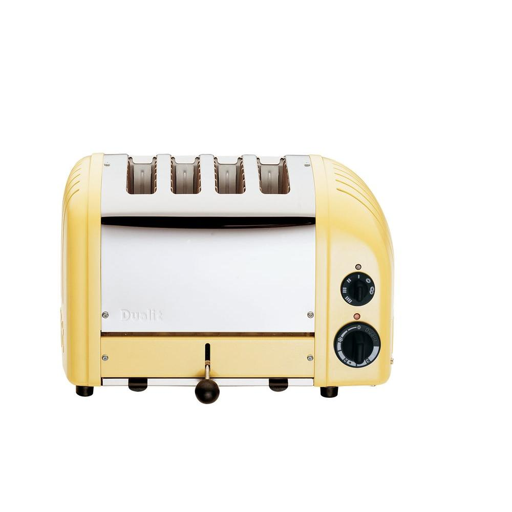Dualit New Gen Classic 4-Slice Toaster Canary Yellow