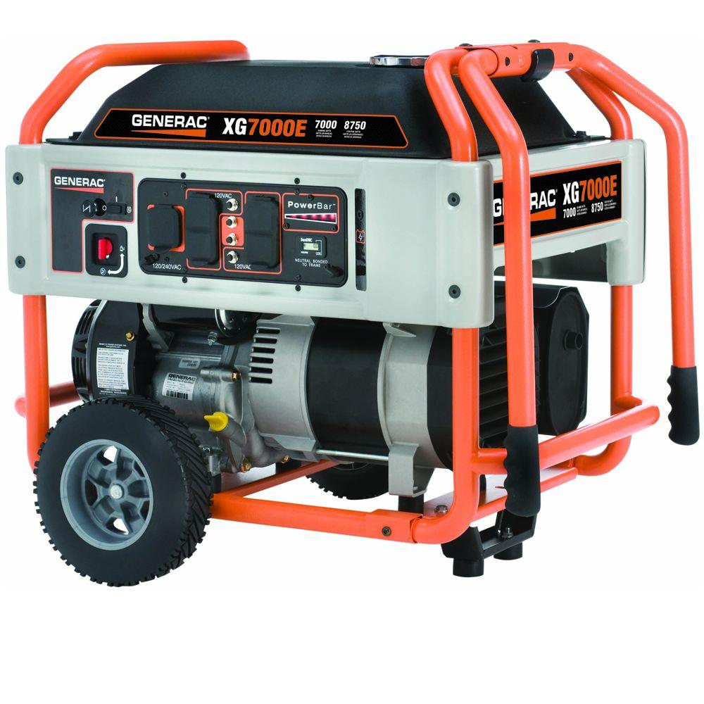 Generac 7,000-Watt Gasoline Powered Electric Start Portable Generator