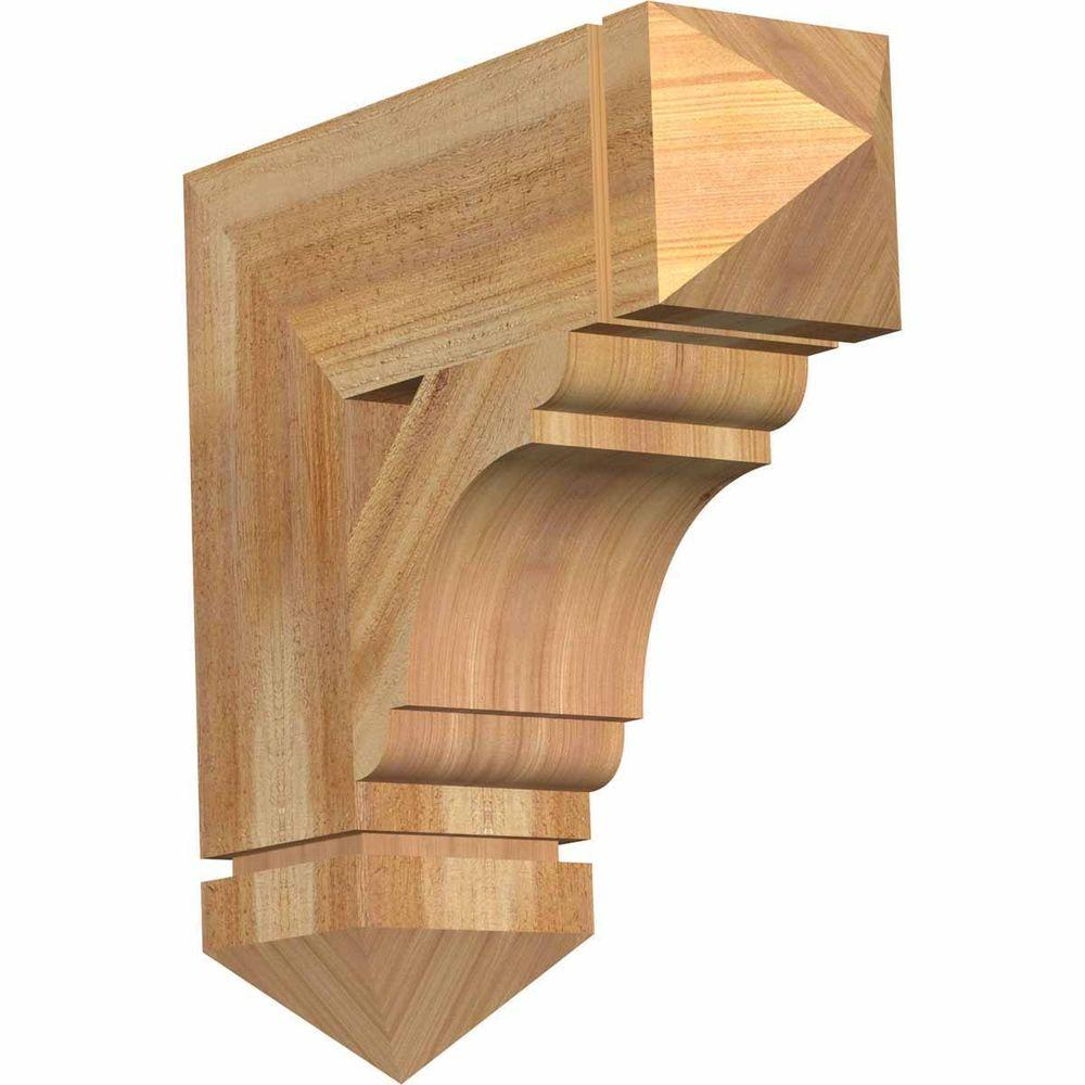 Ekena Millwork 6 in. x 20 in. x 20 in. Western Red Cedar Olympic Arts and Crafts Rough Sawn