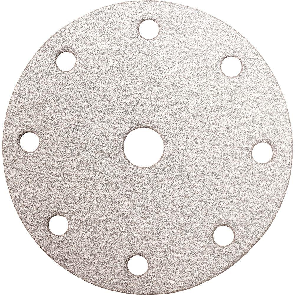 Makita 6 in. 80-Grit Hook and Loop Round Abrasive Disc (10-Pack)-794609-5