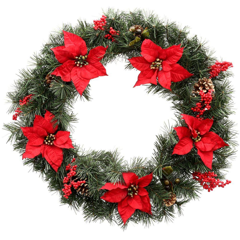 Christmas wreaths and garland at the home depot Christmas wreath decorations