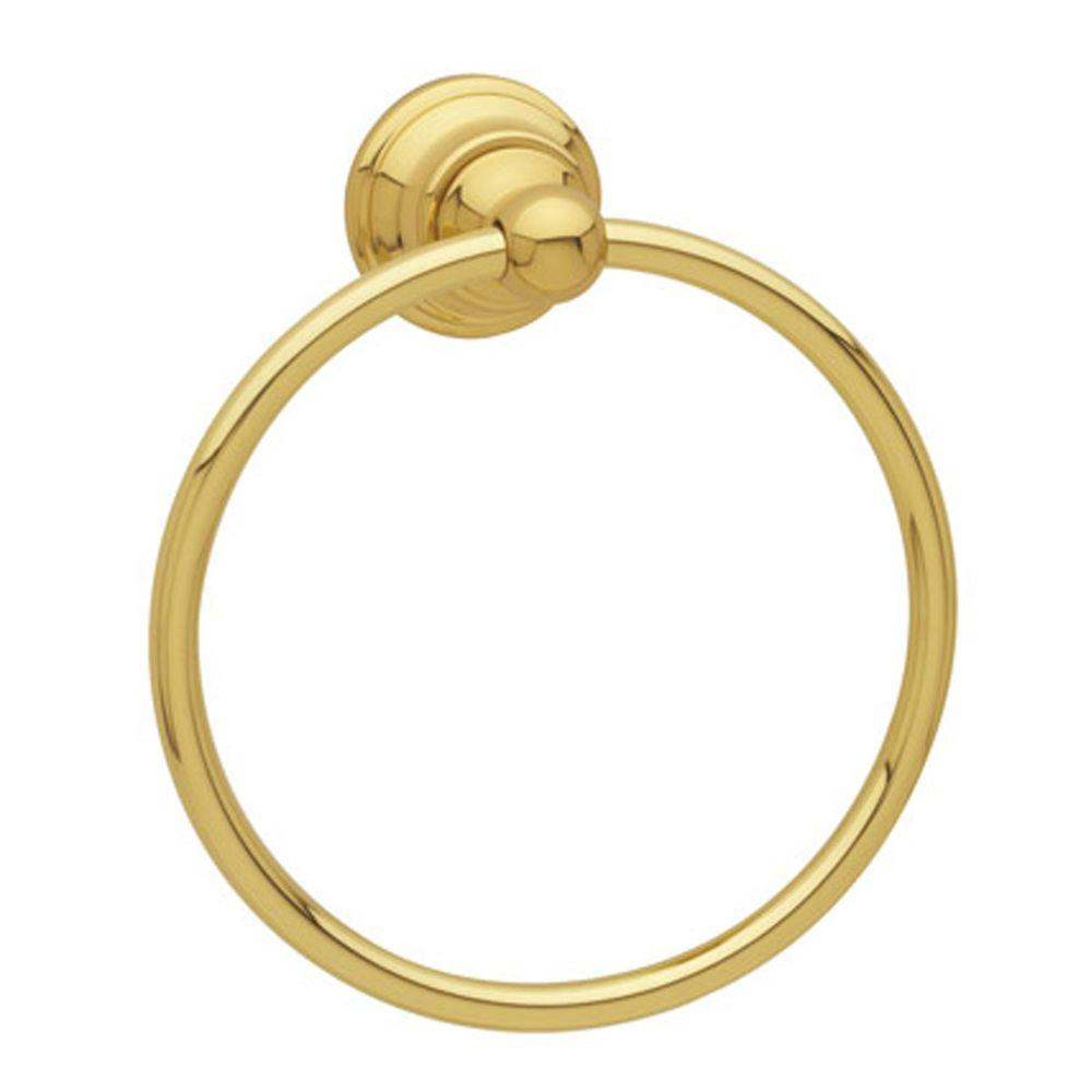 Baldwin Edgewater Towel Ring in Polished Brass-DISCONTINUED