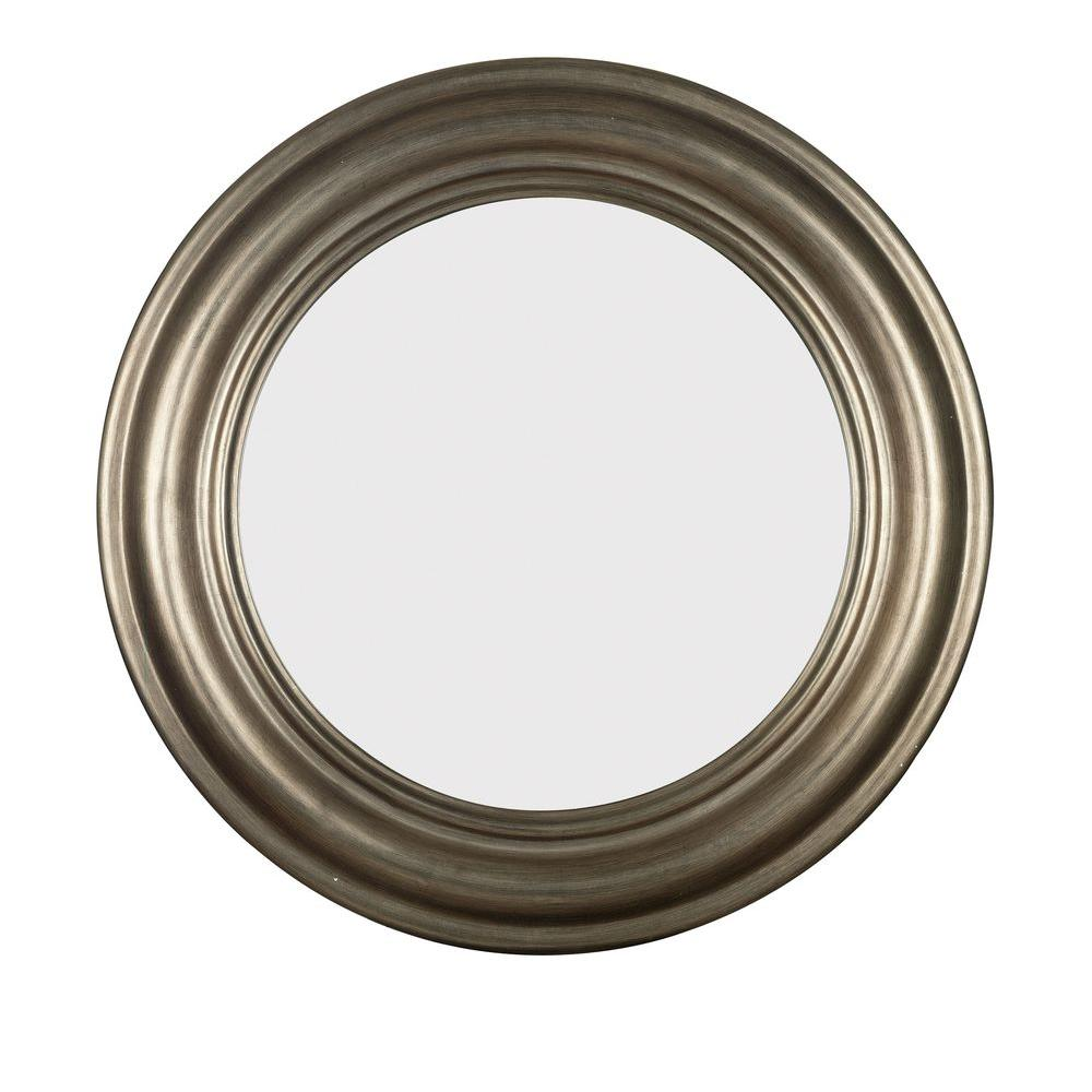 Home Decorators Collection Nob Hill 32 in. Round Polyurethane Framed