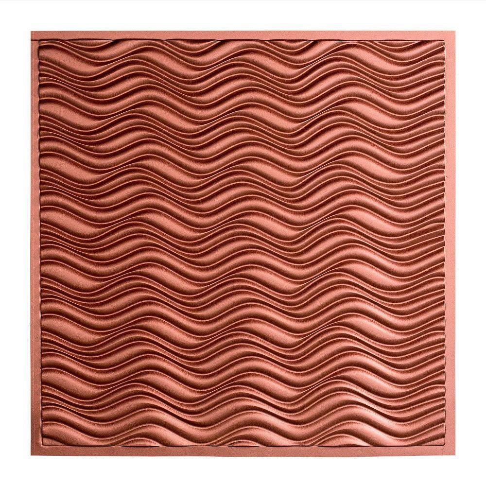 Fasade Current - 2 ft. x 2 ft. Lay-in Ceiling Tile in Argent Copper
