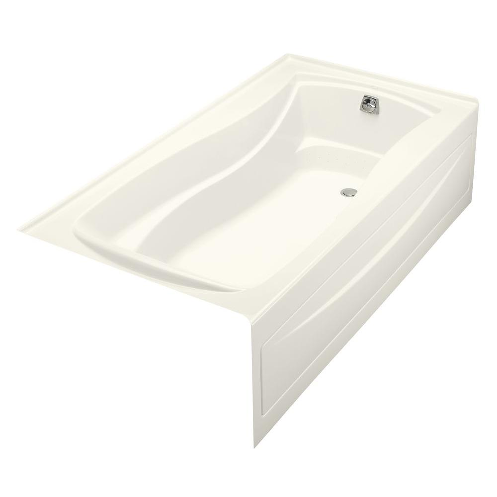 Mariposa 6 ft. Acrylic Right Drain Hourglass Alcove Whirlpool Bathtub in
