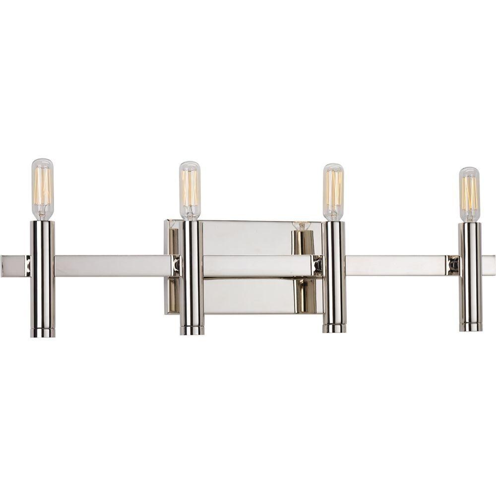 Draper Collection 4-Light Polished Nickel Bath Light