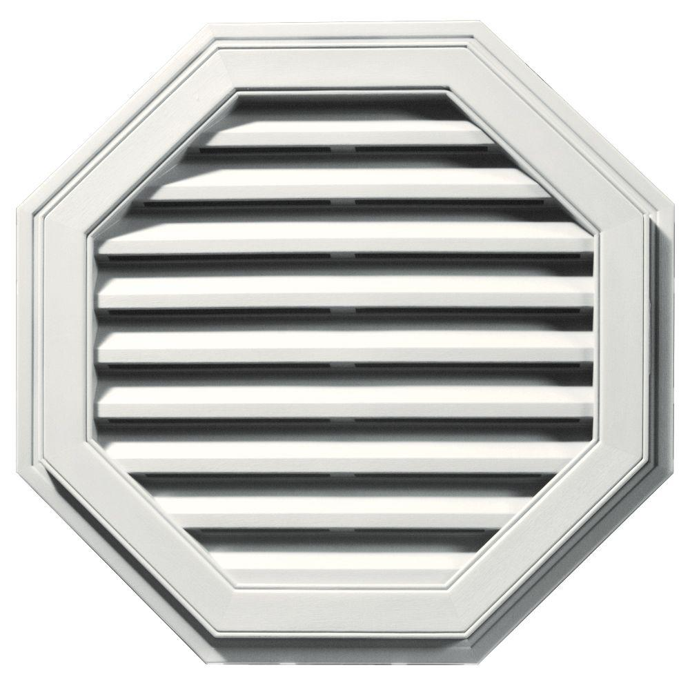 Builders Edge 27 in. Octagon Gable Vent in White