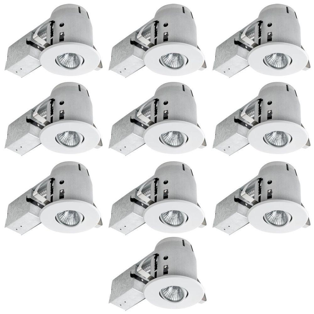 Globe Electric 4 in. White Recessed Lighting Kit Combo (10-Pack)-90540 -