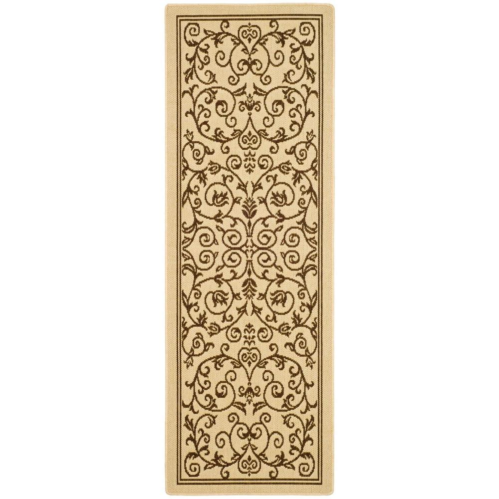 Safavieh Courtyard Natural/Brown 2 ft. 3 in. x 6 ft. 7