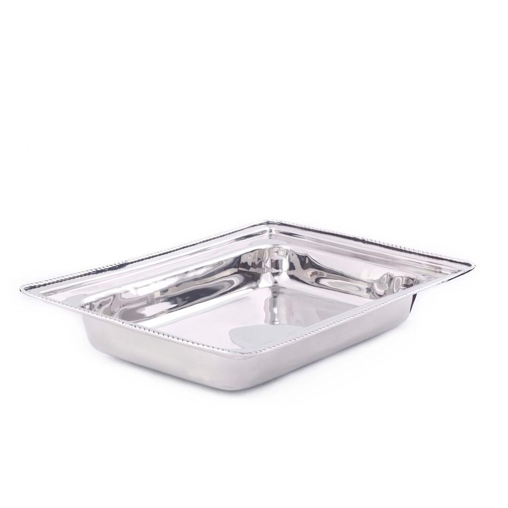 Old Dutch 8 qt. Rectangular Stainless Steel Food Pan-FP683 - The
