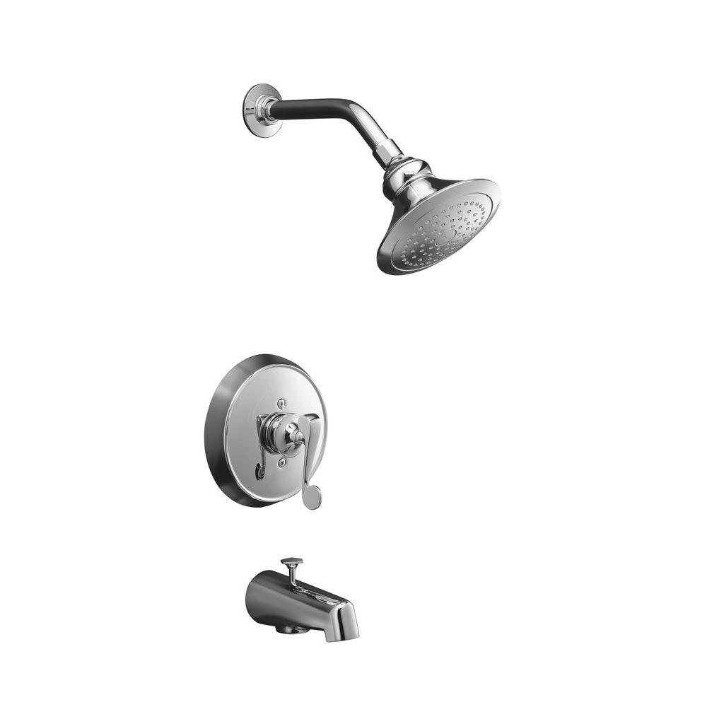 Revival Rite-Temp Pressure-Balancing Bath and Shower Faucet Trim in Polished
