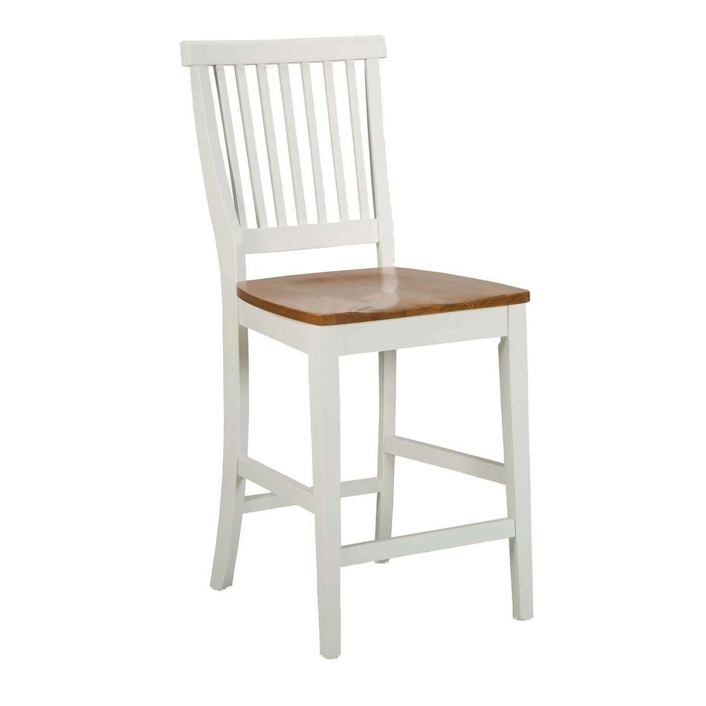 Home styles 24 in white bar stool 5002 89 the home depot Home depot wood bar stools