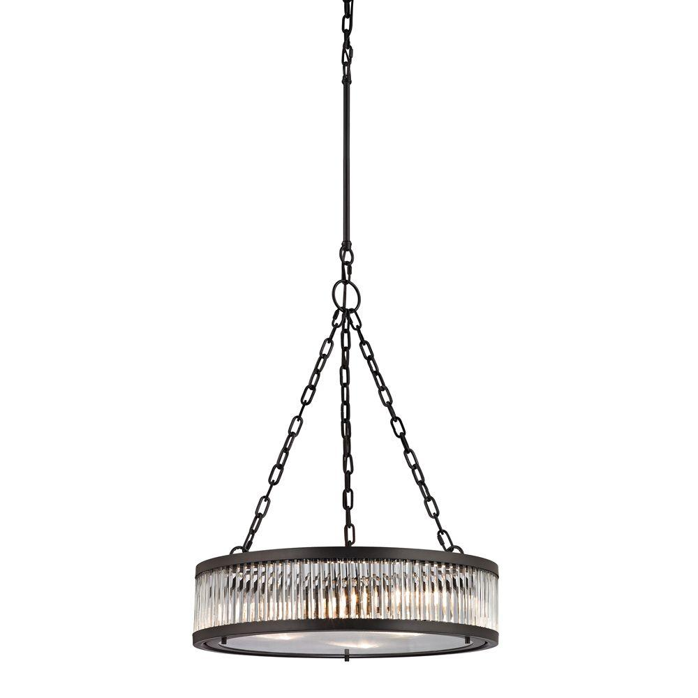 Titan Lighting Munsey Park Collection 3-Light Oil-Rubbed Bronze Pendant-TN-39096