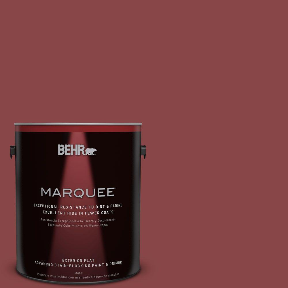 BEHR MARQUEE 1-gal. #PPU1-10 Forbidden Red Flat Exterior Paint