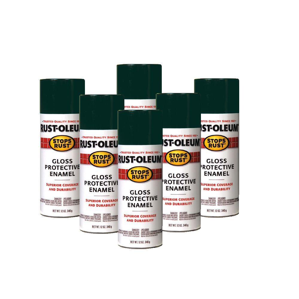 Rust-Oleum Stops Rust 12 oz. Army Green Protective Enamel Spray (6-Pack)-DISCONTINUED