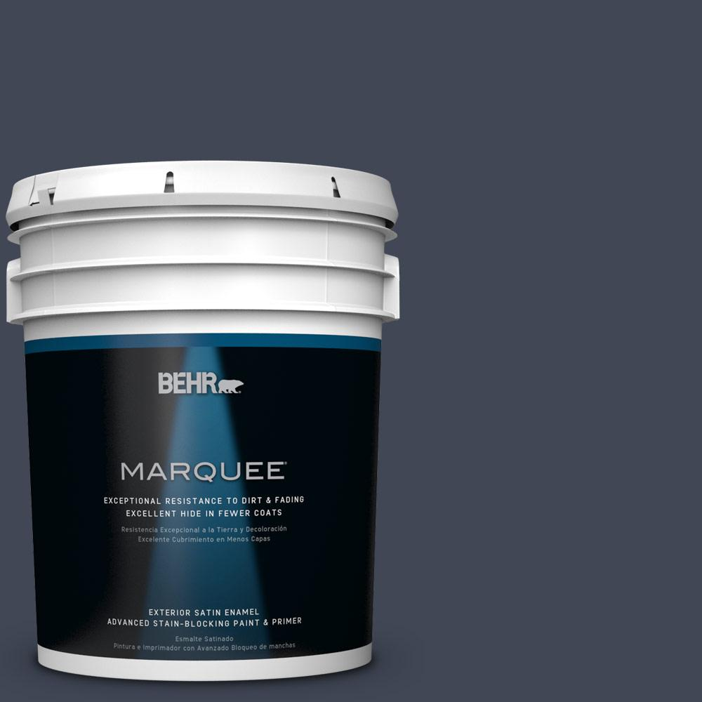 BEHR MARQUEE 5-gal. #PPU14-20 Starless Night Satin Enamel Exterior Paint