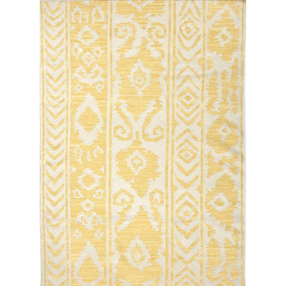 Payson Misted Yellow 2 ft. x 3 ft. Tribal Area Rug