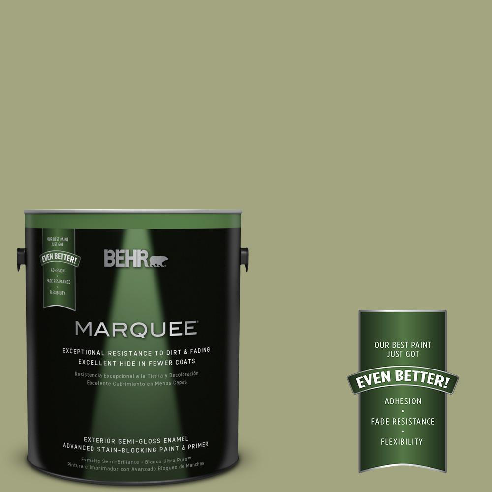 BEHR MARQUEE 1-gal. #410F-4 Mother Nature Semi-Gloss Enamel Exterior Paint