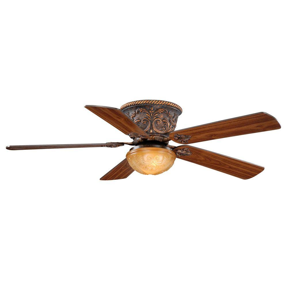 AireRyder Corazon 52 in. Aged Bronze Flushmount Ceiling Fan-FN52317AR - The