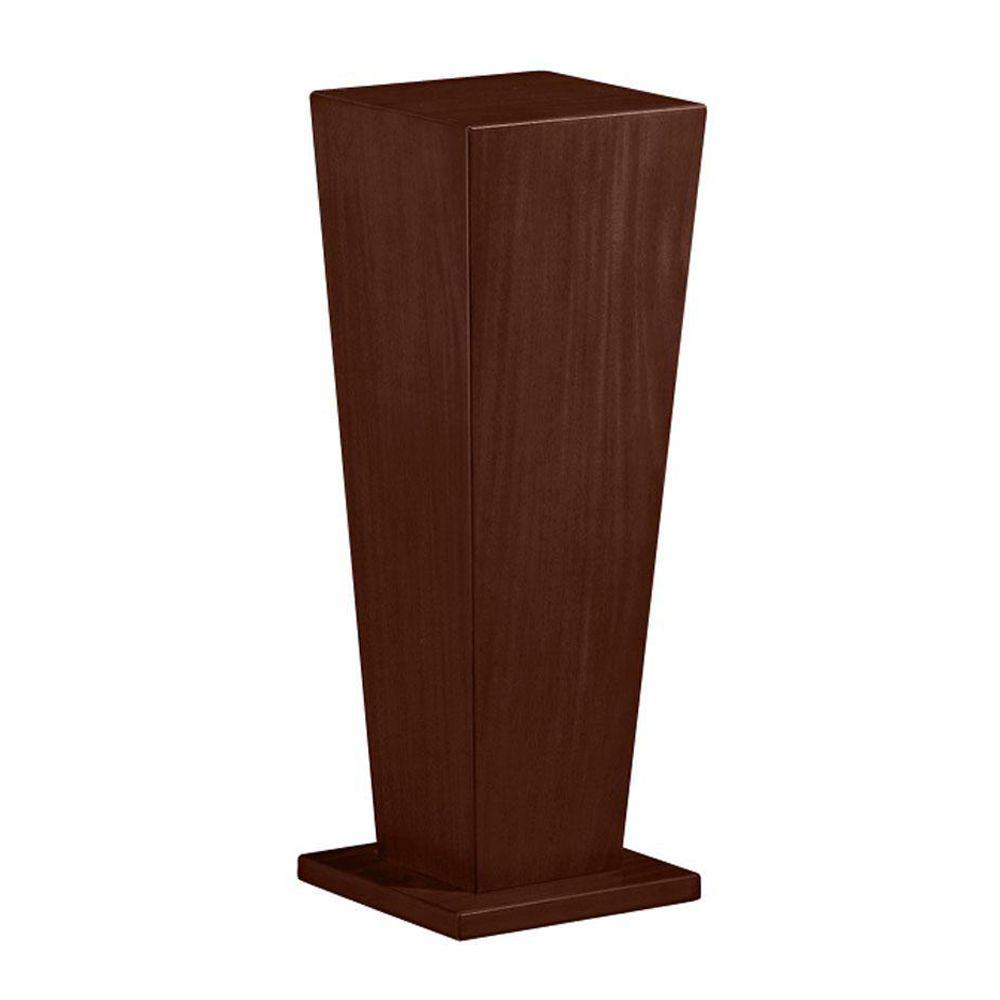 Home Decorators Collection 30 in. H Tapered Warm Brown Pedestal