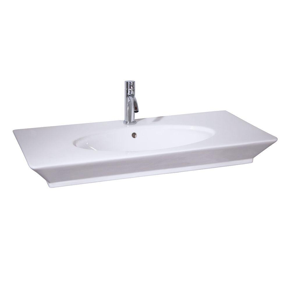 Barclay Products Aristocrat 19-3/8 in. Console Sink Basin in White-ICN3052-B -