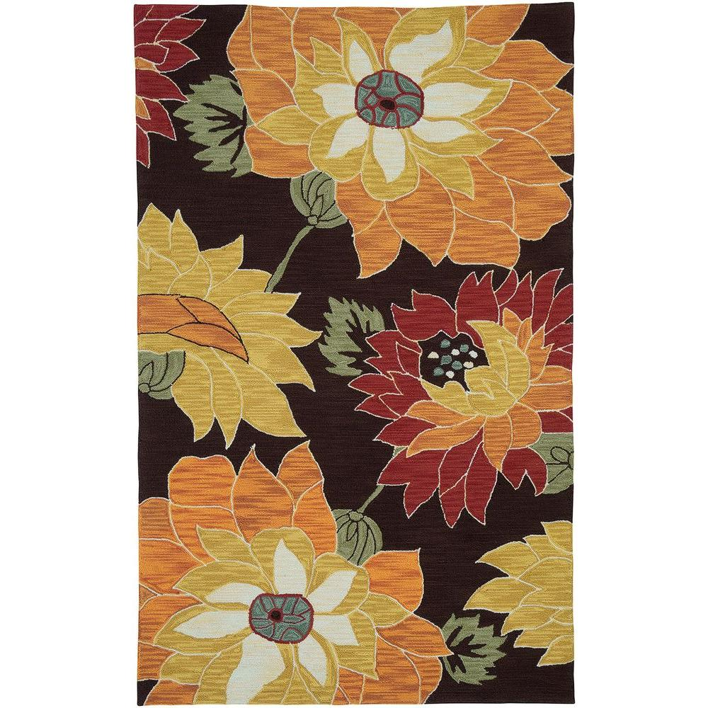 LR Resources Enchant Brown 5 ft. x 7 ft. 9 in. Microfiber Area Rug