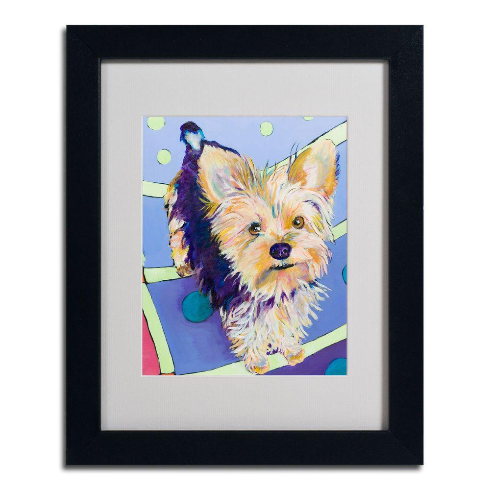 11 in. x 14 in. Claire Black Framed Matted Art-PS019-B1114MF -