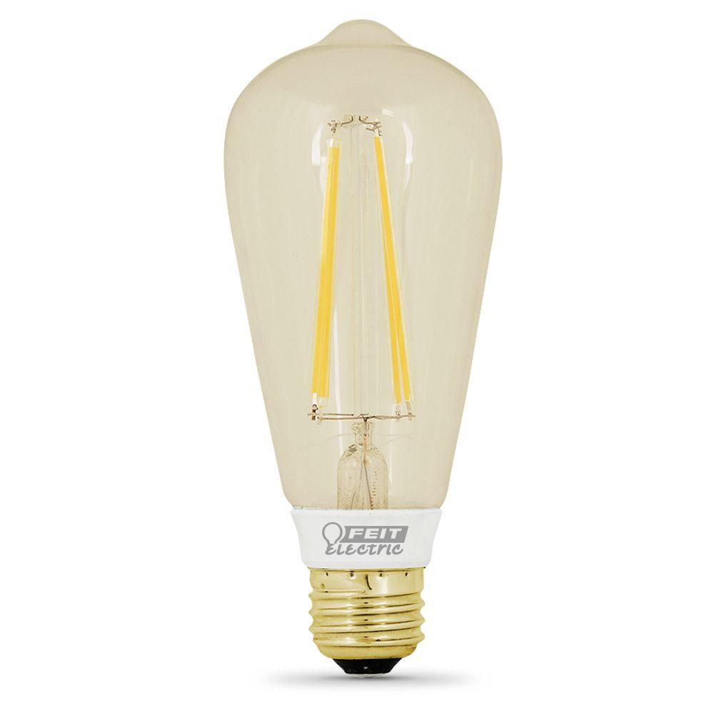 Feit Electric 40w Equivalent Soft White 2150k St19: Feit BPST19 LED The Original Vintage Style Bulb 60W Edison
