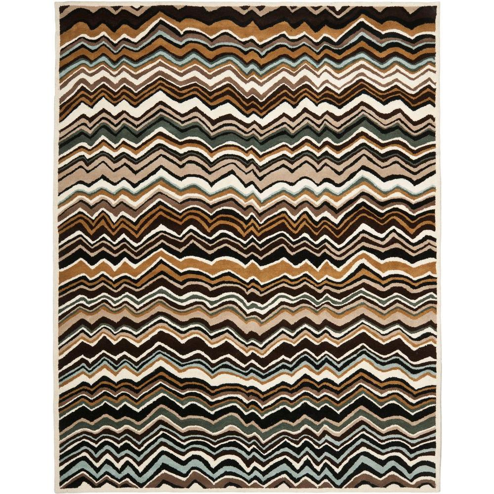 Wyndham Brown/Multi 8 ft. x 10 ft. Area Rug