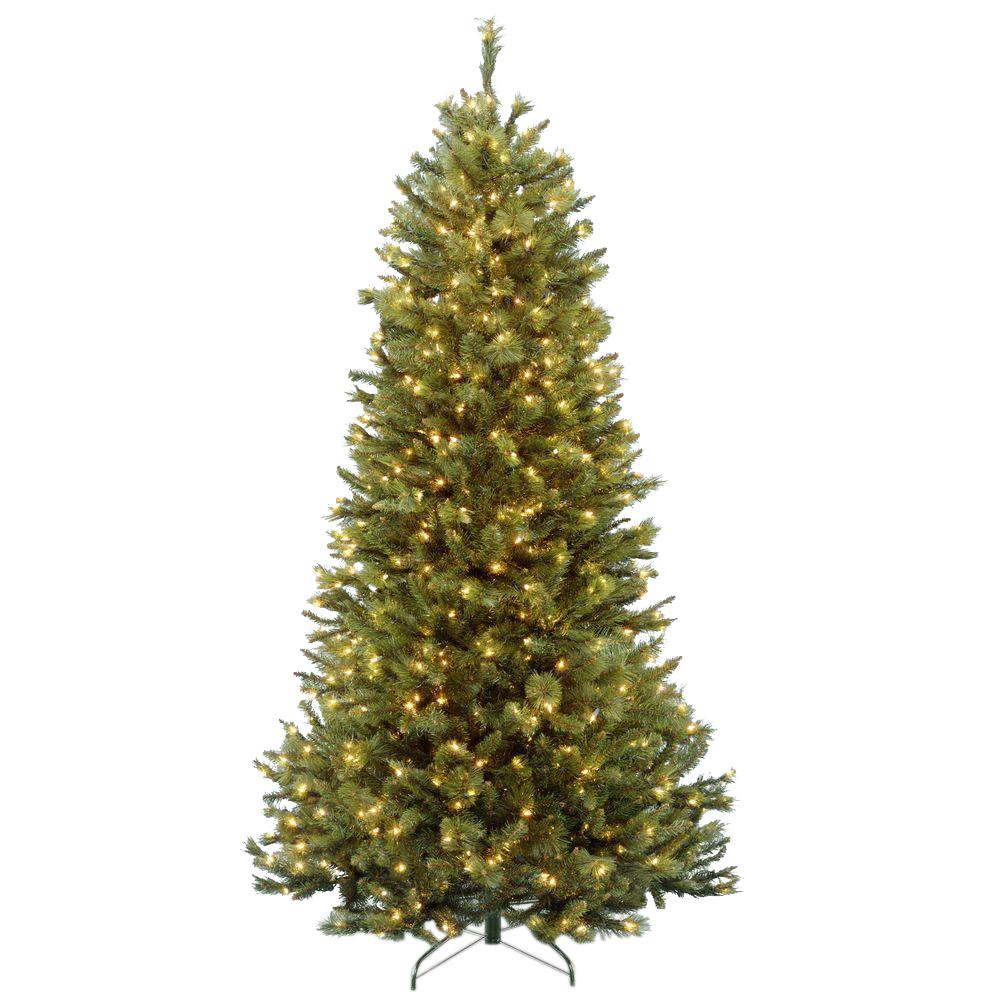 National Tree Company 7-1/2 ft. Rocky Ridge Slim Pine Hinged Artificial