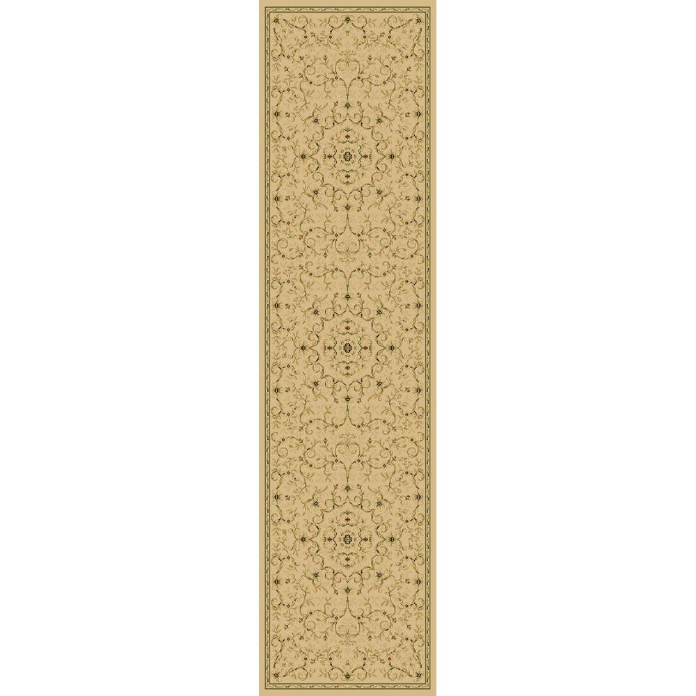 TrafficMASTER Canyon Leyla Ivory 26 in. x 50 ft. Rug Runner