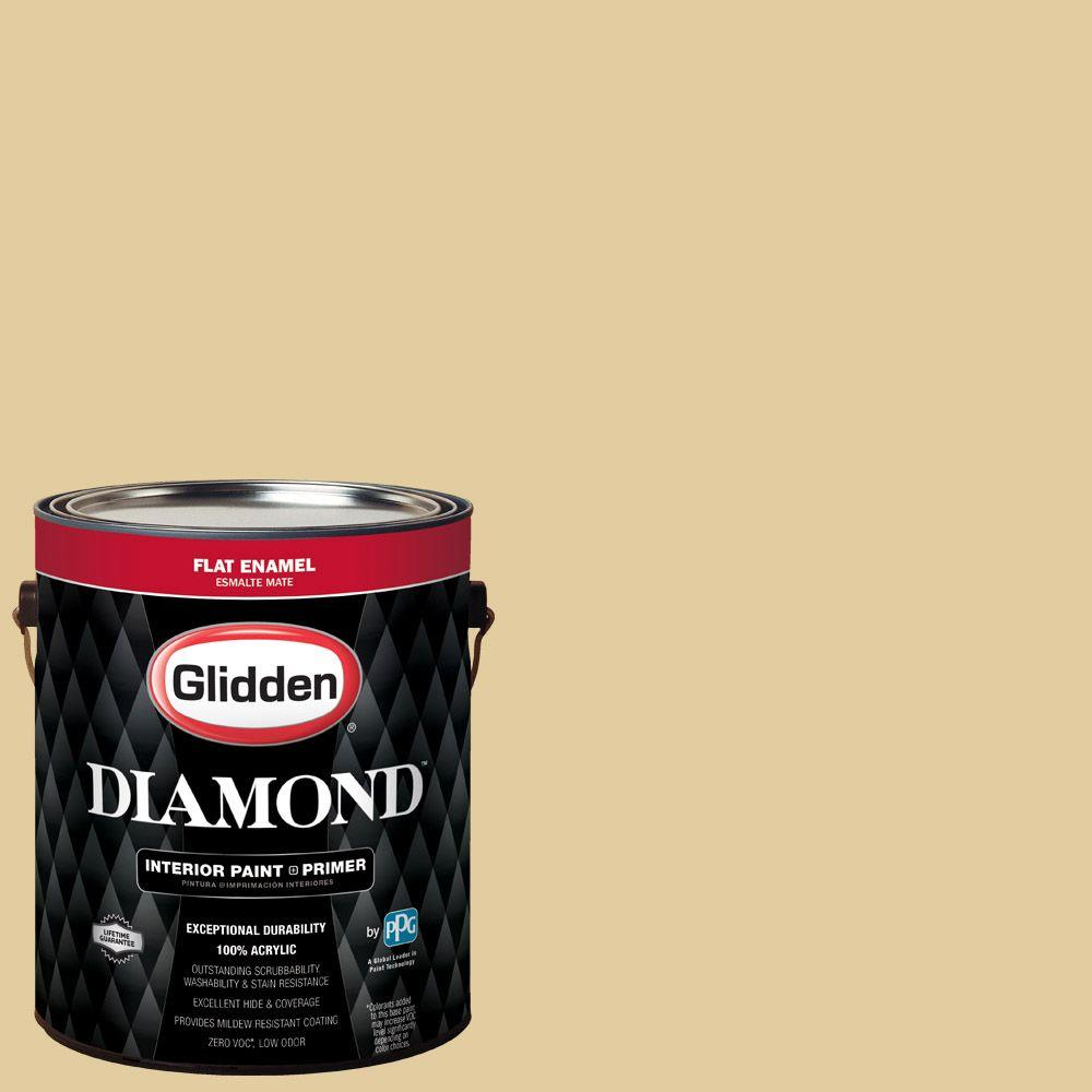 1 gal. #HDGY62D Golden Heirloom Flat Interior Paint with Primer