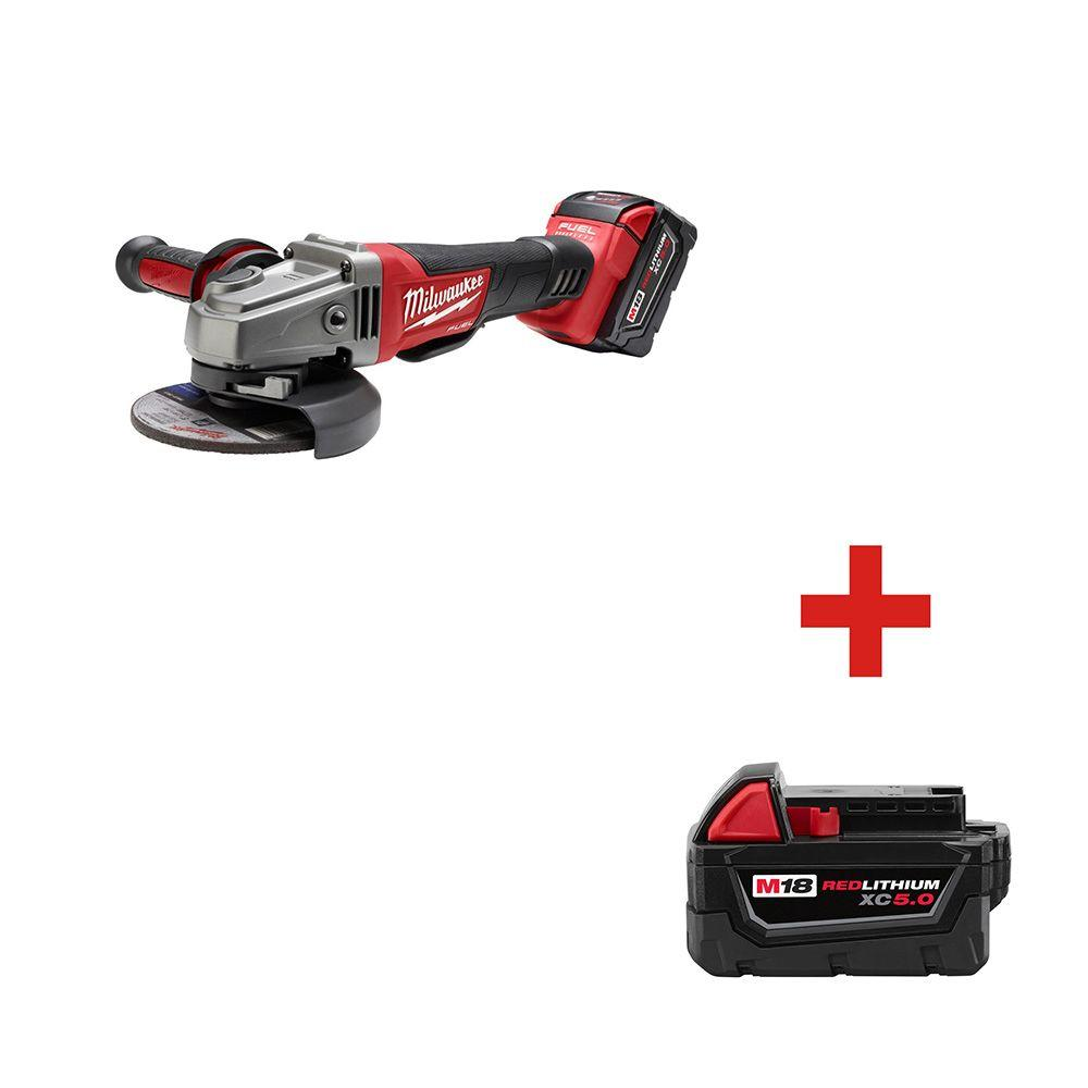 Milwaukee M18 FUEL 18-Volt Lithium-Ion Cordless Brushless 4-1/2 in./5 in.