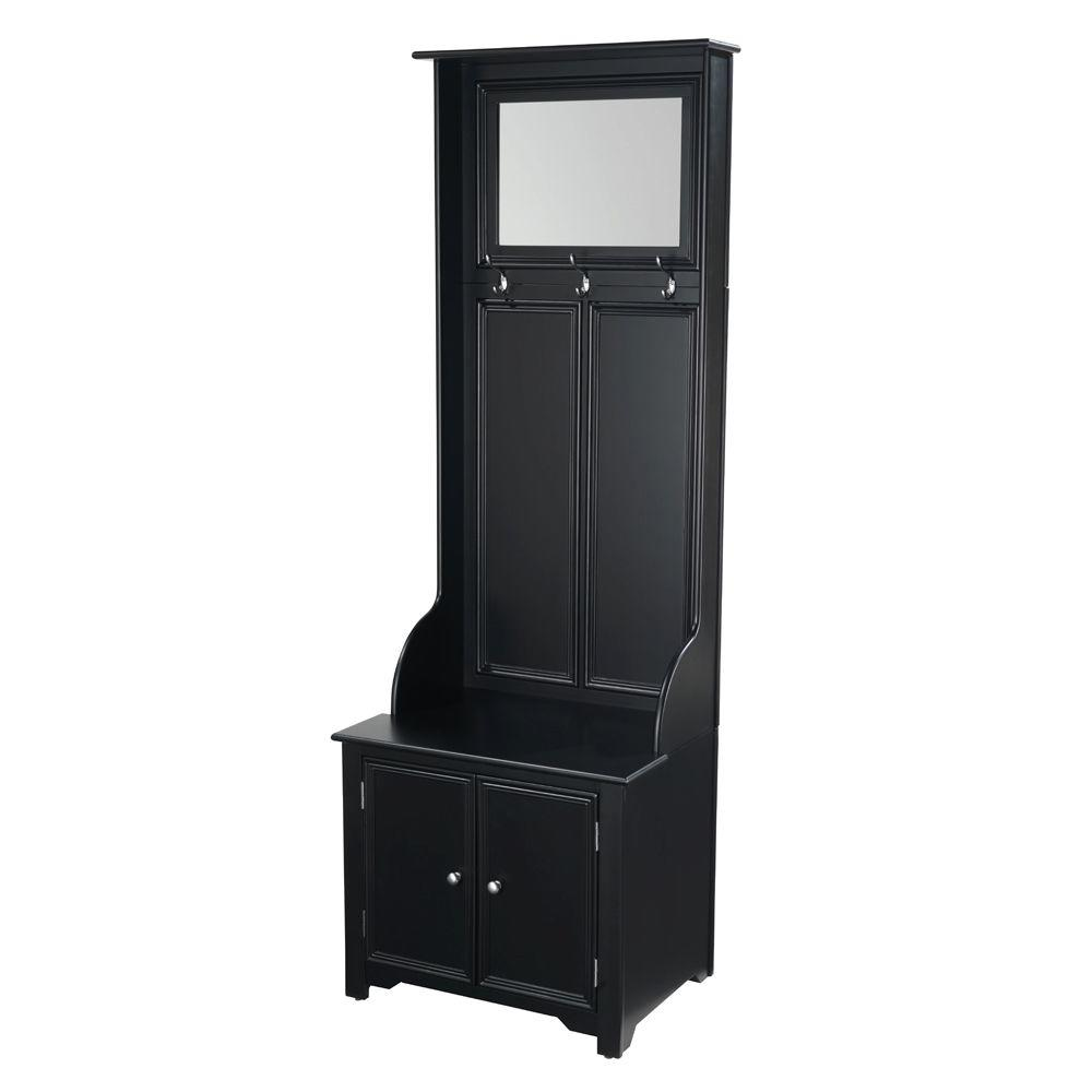 Home Decorators Collection Oxford Black Hall Tree 0829300210 The Home Depot