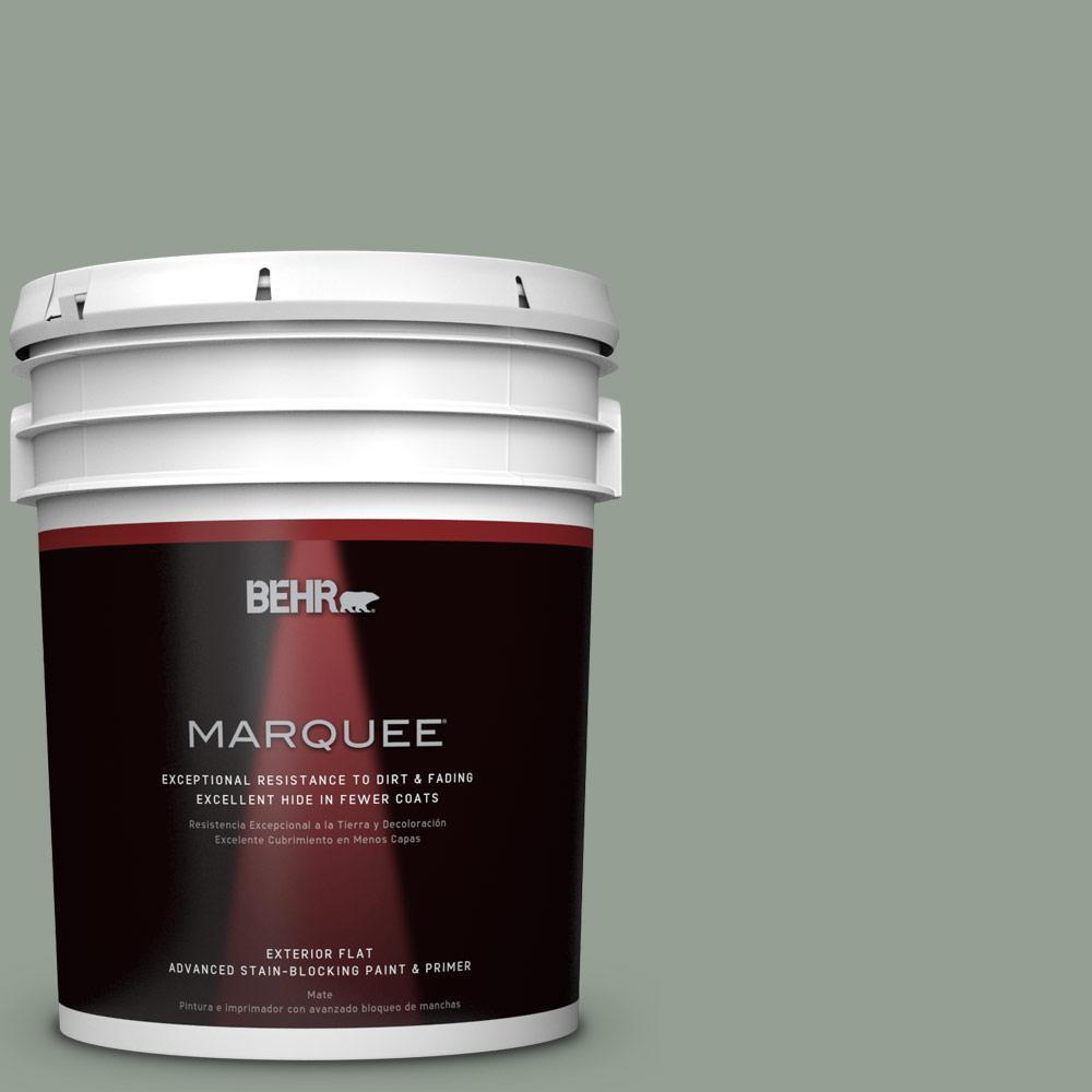 BEHR MARQUEE 5-gal. #N400-4 Forest Path Flat Exterior Paint-445405 - The