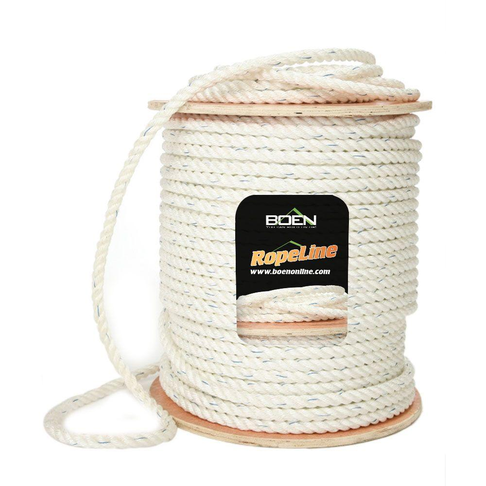 3/8 in. x 1200 ft. PolyCombo 3-Strand Safety Rope