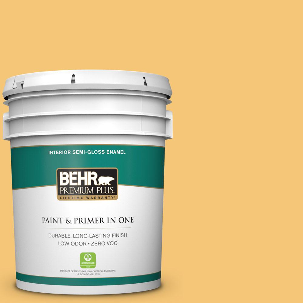 5-gal. #T14-19 Sunday Afternoon Semi-Gloss Enamel Interior Paint