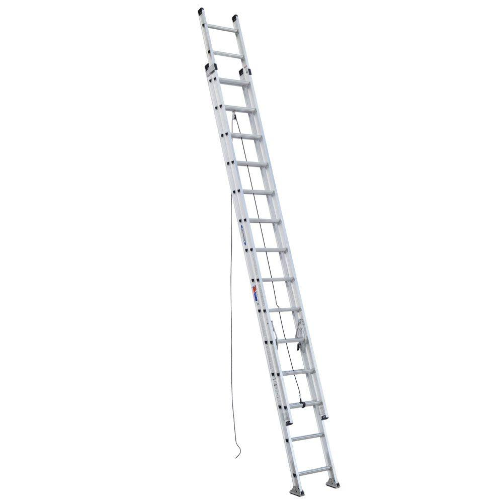 Werner 28 ft. Aluminum D-Rung Extension Ladder with 300 lb. Load Capacity Type IA Duty Rating