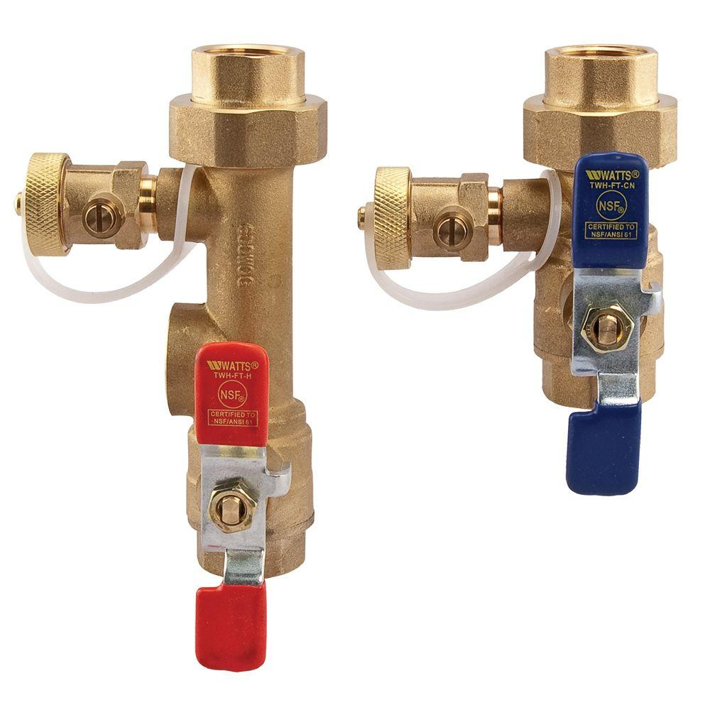 2-Piece Lead-Free Brass Tankless Water Heater Valve Set