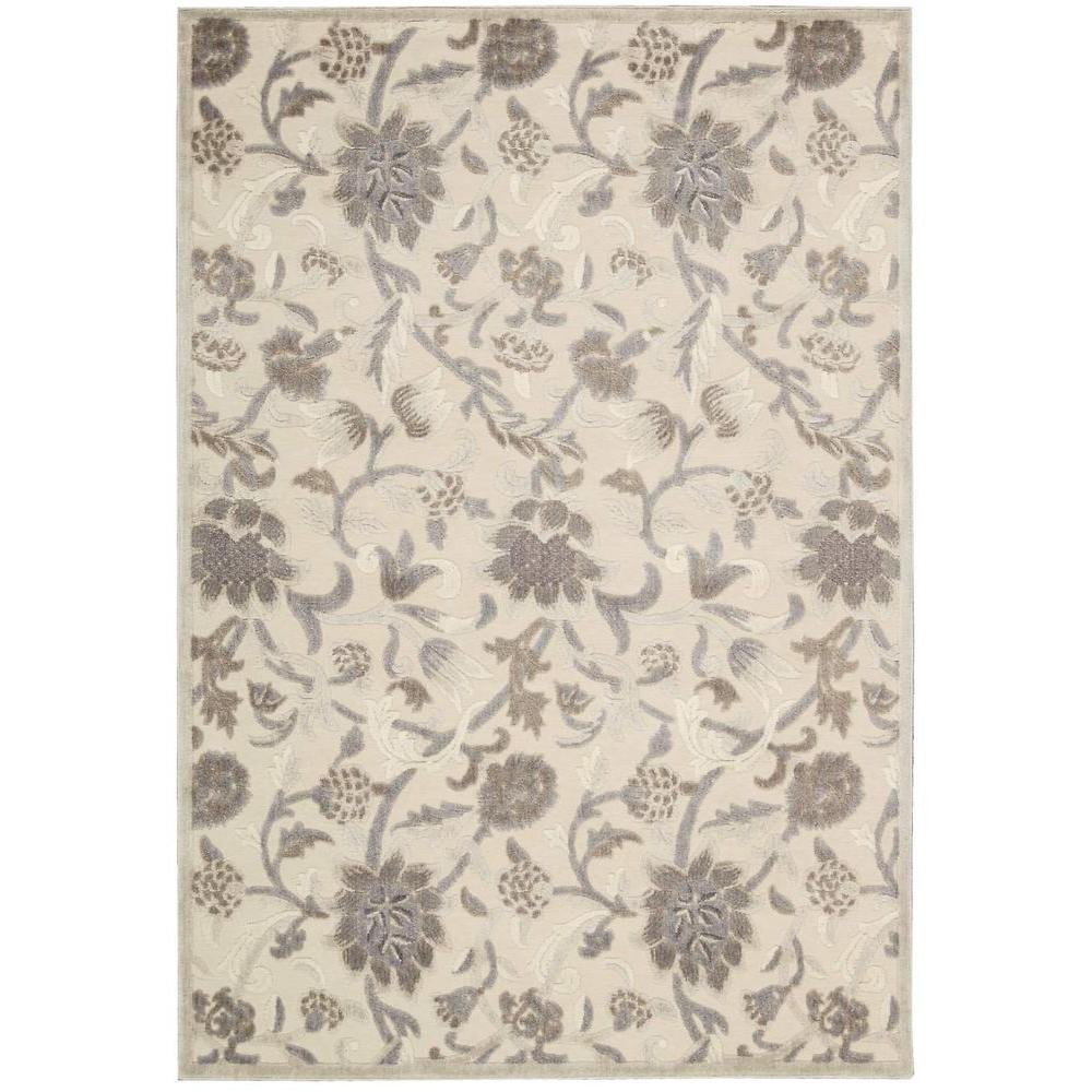 Graphic Illusions Ivory 5 ft. 3 in. x 7 ft. 5