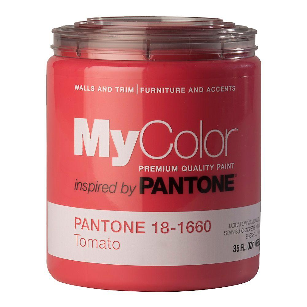MyColor inspired by PANTONE 18-1660 Eggshell 35-oz. Tomato Self Priming Paint-DISCONTINUED